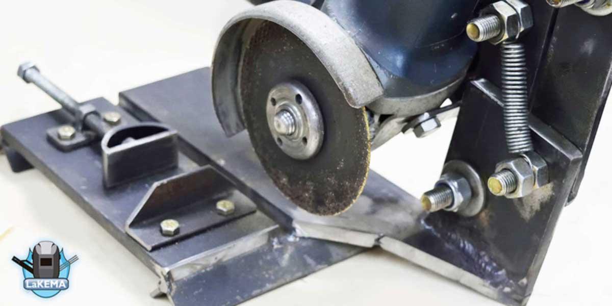soporte para amoladora casero herramienta casera hecha por lakema