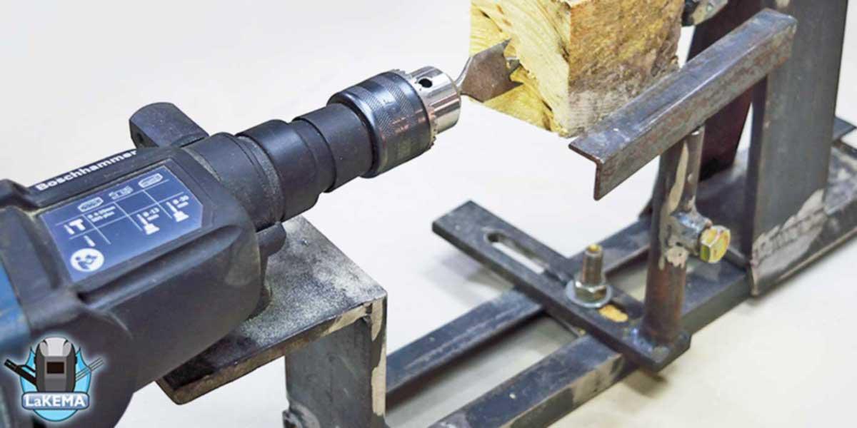 torno para madera casero hecho por lakema