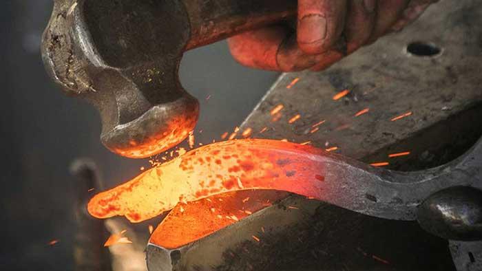 martillo de herrero herramientas caseras para herreria