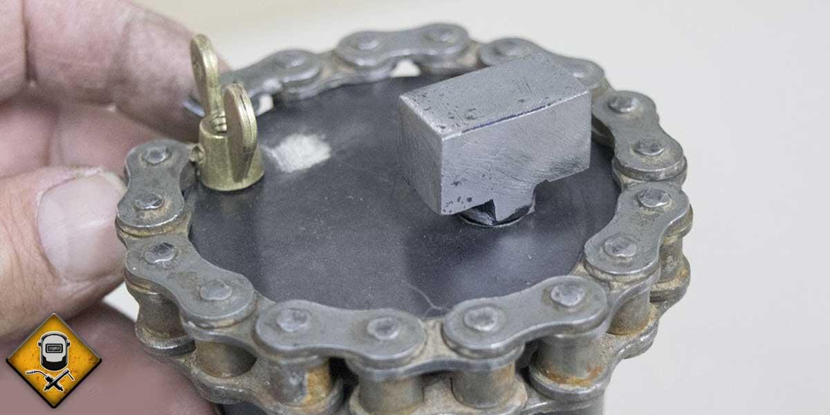 Porta electrodos casero